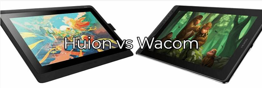 comparativa huion vs wacom